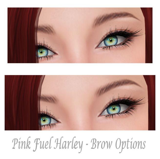 Pink Fuel Harley Brow Options