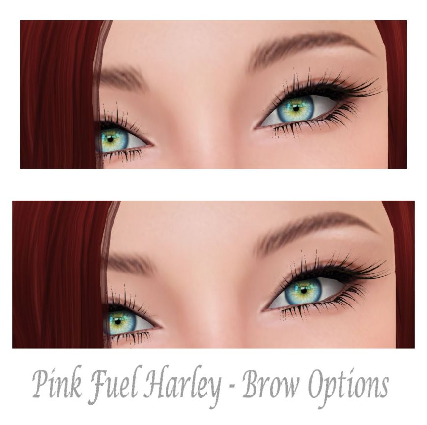 Pink Fuel Harley Brow Options
