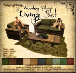 DDD Wooden Plan Living Set