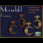 Bliensen + MaiTai - Moonchild - Earrings - Gold - Ad