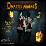 Dwarfins Mesh Rigged Female Vampire Avatar 30% discount