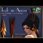 Bliensen + MaiTai - Took an Arrow - Hair Corsage - 3 or 5 arrow