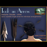 Bliensen + MaiTai - Took an Arrow - Hairpins - Double - silver