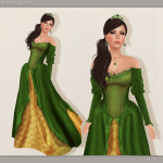 Iseult Gown - Green