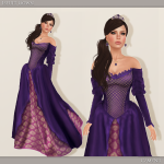 Iseult Gown - Purple