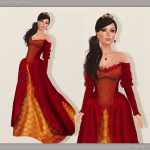 Iseult Gown - Red