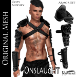 RS Onslaught Black Armor Set