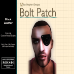 ! !SSD Bolt Patch - Black Leather