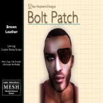 ! !SSD Bolt Patch - Brown Leather