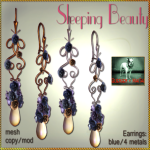 Bliensen + MaiTai - Sleeping Beauty - Earrings - blue
