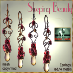 Bliensen + MaiTai - Sleeping Beauty - Earrings - red