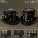 Eudora 3D Steampunk Dynamite Hat Main Black