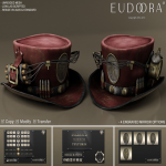 Eudora 3D Steampunk Dynamite Hat Main Bordeaux