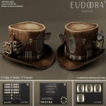 Eudora 3D Steampunk Dynamite Hat Main Brown