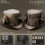 Eudora 3D Steampunk Dynamite Hat Main Sand