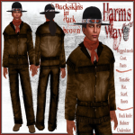 Harm's Way Buckskins dark brown ad
