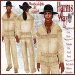 Harm's Way Buckskins in sand ad