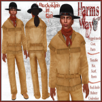 Harm's Way Buckskins in tan ad