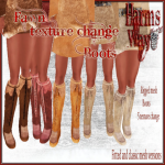 Harm's Way Fawn boots ad