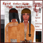 Harm's Way Fawn hair blacks ad