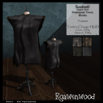 {RW} Sacked Rigged Mesh Tunic in Black [4 Versions]