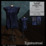 {RW} Sacked Rigged Mesh Tunic in Blue [4 Versions]