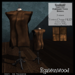 {RW} Sacked Rigged Mesh Tunic in Brown [4 Versions]