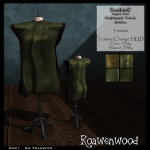 {RW} Sacked Rigged Mesh Tunic in Green [4 Versions]