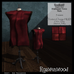 {RW} Sacked Rigged Mesh Tunic in Red [4 Versions]