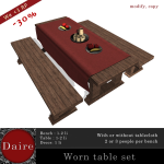 DAIRE_ Worn Table Set AD
