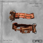 DRD- steampunk belt brown leather