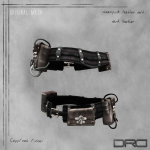 DRD- steampunk belt dark leather