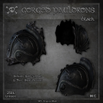 Forge Gorged Pauldrons-Black