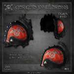 Forge Gorged Pauldrons-BlackRed