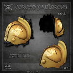 Forge Gorged Pauldrons-Gold