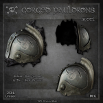 Forge Gorged Pauldrons-Steel