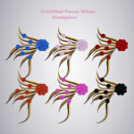 OrsiniRed Peony Wings Headpiece All