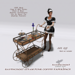 Ravenghost Interiors Victorian Coffee Cart ADD