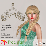 Frogstar - Mermaid's Headpiece Poster (Gold)