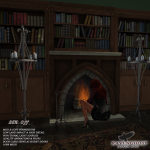 Ravenghost  Victorian Library & Chained Floor Candle Add2