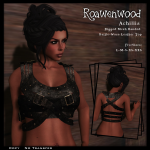 {RW} Achillia Banded Top - Battle Worn Leather