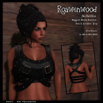 {RW} Achillia Banded Top - Black Leather