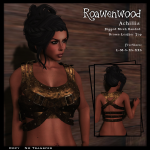 {RW} Achillia Banded Top - Brown Leather