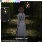 A.D.D.Andel! Curled Mage Staff AD