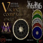 [Ab.Fab] Viking compass shield Multi pack MRF