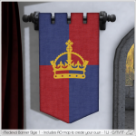 Alouette - Medieval Banner Style 1 (AD)