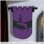 Alouette - Medieval Banner Style 3 (AD)