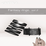 aru - Fantasy rings set 2