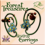 AZE Forest Treasures Dewdrop Earrings Poster MRF 512