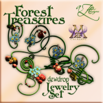 AZE Forest Treasures Dewdrop Jewelry Set Poster MRF 512